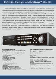 DVR H.264 Premium: rede DynaGuard Série 600