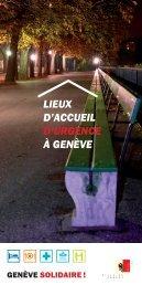 Lieux d'accueil d'urgence à Genève (F) - Ville de Genève