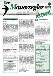 90 Jahre - Bund Naturschutz Nürnberg