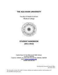 student handbook (2011-2012) - Aga Khan University