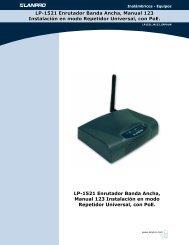 LP-1521 Enrutador Banda Ancha, Manual 123 Instalación ... - LanPro