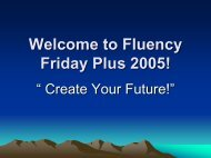 Welcome to Fluency Friday Plus 2005!