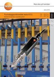 Tryckdaggpunktsreläet testo 6721 - Nordtec Instrument AB