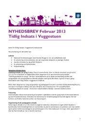 NYHEDSBREV Februar 2013 Tidlig Indsats i Vuggestuen - mitBUF.dk