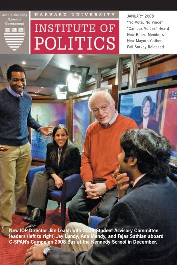 2008 Fall Newsletter - Harvard University Institute of Politics