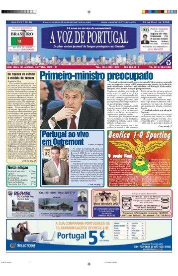 Primeiro-ministro preocupado - A Voz de Portugal
