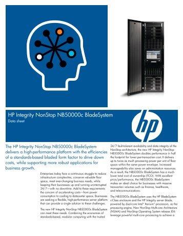 HP Integrity NonStop NB50000c BladeSystem