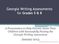 Georgia Writing Assessments - Clayton County Public Schools