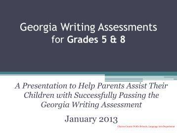 georgia writing assessment scores