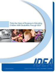 Thirty-five Years of Progress in Educating Children With Disabilities ...