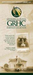 GRHC Brochure - Libraries - North Dakota State University