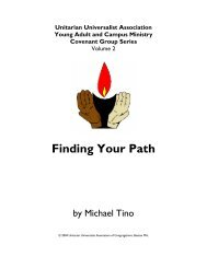 Finding Your Path - UUA - Unitarian Universalist Association