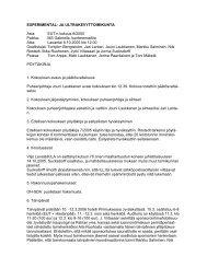 Kokouksen pöytäkirja - Suomen Ilmailuliitto