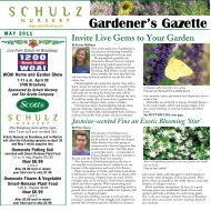 Download the May 2011 Newsletter - Schulz Nursery