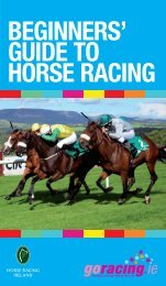 Beginners' guide to horse racing - Horse Racing Ireland