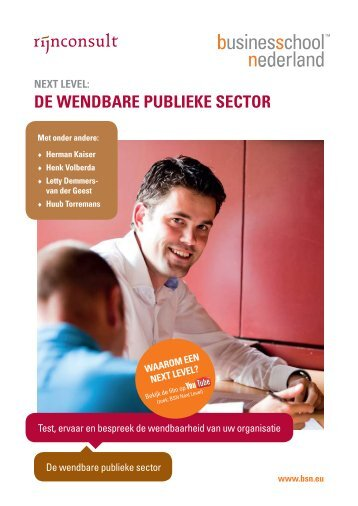 de weNdbare publieke sector - Business School Netherlands