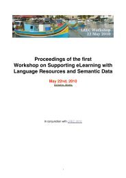 Proceedings of the first Workshop on Supporting eLearning with ...