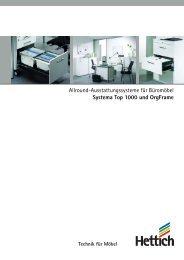 Katalog Systema Top 1000 / OrgFrame - Hettich