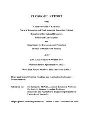 CLOSEOUT REPORT - Biosystems and Agricultural Engineering ...