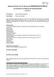 34 Sitzung vom 23-05-2011 - Gemeinde WALD