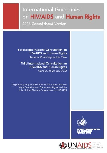 International Guidelines on HIV/AIDS and Human Rights - UNAids