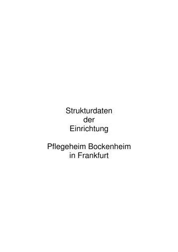 Strukturdaten Pflegeheim Bockenheim 2012 - KTQ