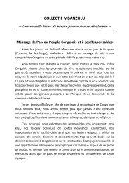 Mbanzulu Message de Paix - Peaceworkafrica