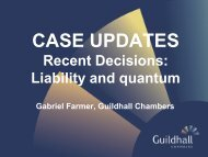 Case Updates - Gabriel Farmer - June 2013 - Guildhall Chambers