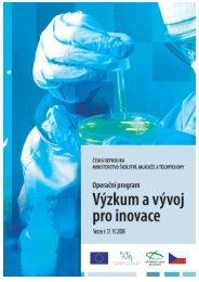 (schváleno vládou dne 15. 11. 2006) OP VaVpI.pdf - Výzkum a vývoj ...