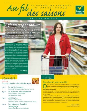 Fil Des Saisons #33 Automne 2010 - Comptoir Agricole