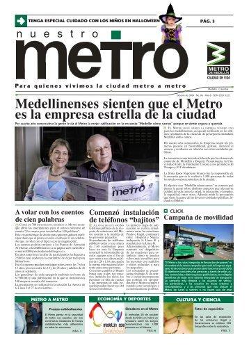 Edición 86, octubre de 2009 - Metro