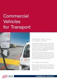 Commercial Vehicles for Transport - ORIX Australia Corporation ...