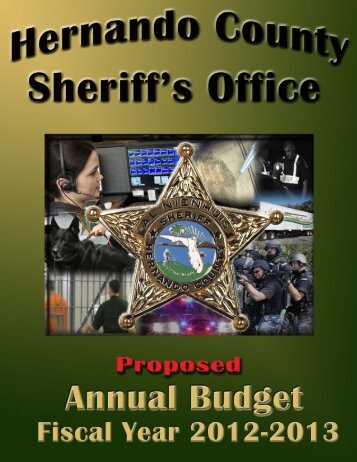 2012-2013 Proposed Annual Budget - Hernando County Sheriff's ...