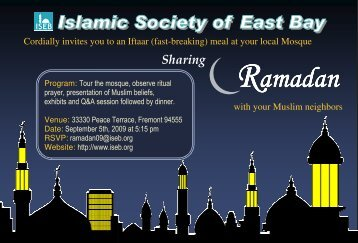 Ramadan - Islamic Society of East Bay