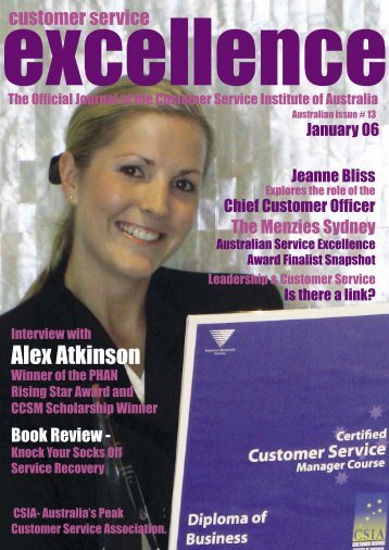 Issue 13 - Customer Service Institute of Australia