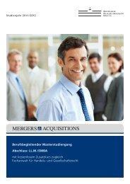 Berufsbegleitender Masterstudiengang Abschluss: LL.M./EMBA mit ...