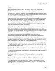 Grudges, Chapter 8 Page 1 Chapter 8 Walking back to ... - Rick's Blog