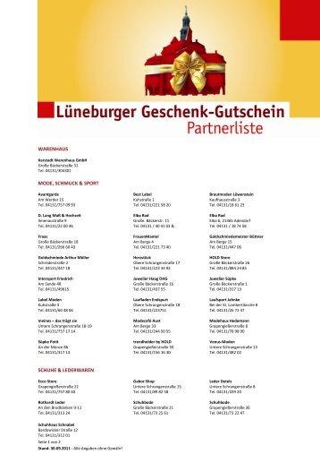 warenhaus mode, schmuck & sport schuhe & lederwaren - Lüneburg