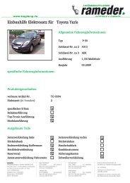 Einbauhilfe Elektrosatz für Toyota Yaris