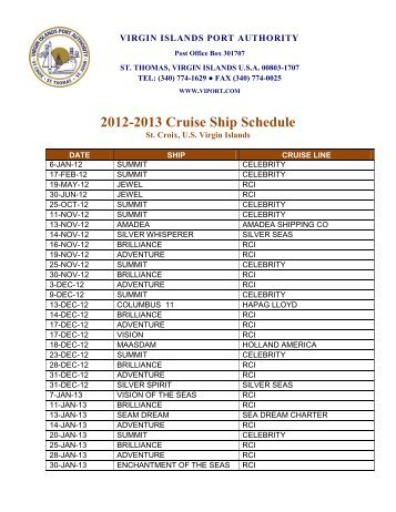 Airport Services Virgin Islands Port Authority - Bvi ports authority cruise ship schedule