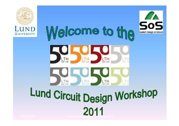 and Introduction - Lund Circuit Design Workshop