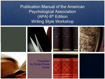 apa referencing 6th edition the university of waikato