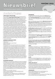 nieuwsbrief voor het voorjaar van 2013 - Theosofische Vereniging in ...