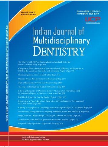 Volume 2 - Issue 1 (Nov-Jan) - IJMD