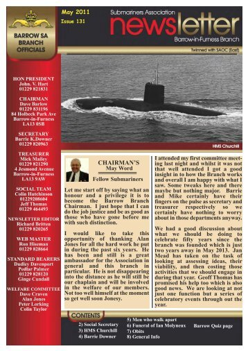 May 11 - Barrow Submariners Association