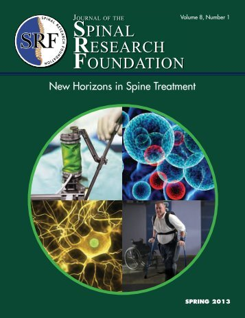 Journal Spring 2013.pdf - Spinal Research Foundation