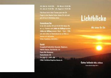 Lichtblicke - Evangelisch Freikirchliche Gemeinde (Baptisten ...