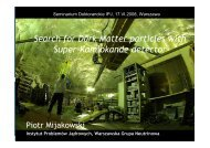 Search for Dark Matter particles with Super-Kamiokande detector