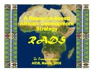 Resource-based African Development Strategy - Partnership to Cut ...