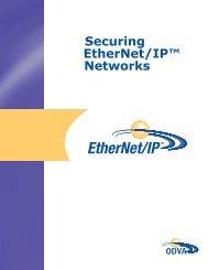 Securing EtherNet/IP™ Networks - ODVA